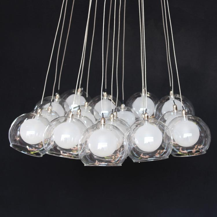 2017 Fumat Creative Clear Glass Bubble Led Pendant Lamps Glass Ball  Chandelier 25 Lights Living Room Office Light Fittings From Goodsoft,  $576.89 | Dhgate. Part 85