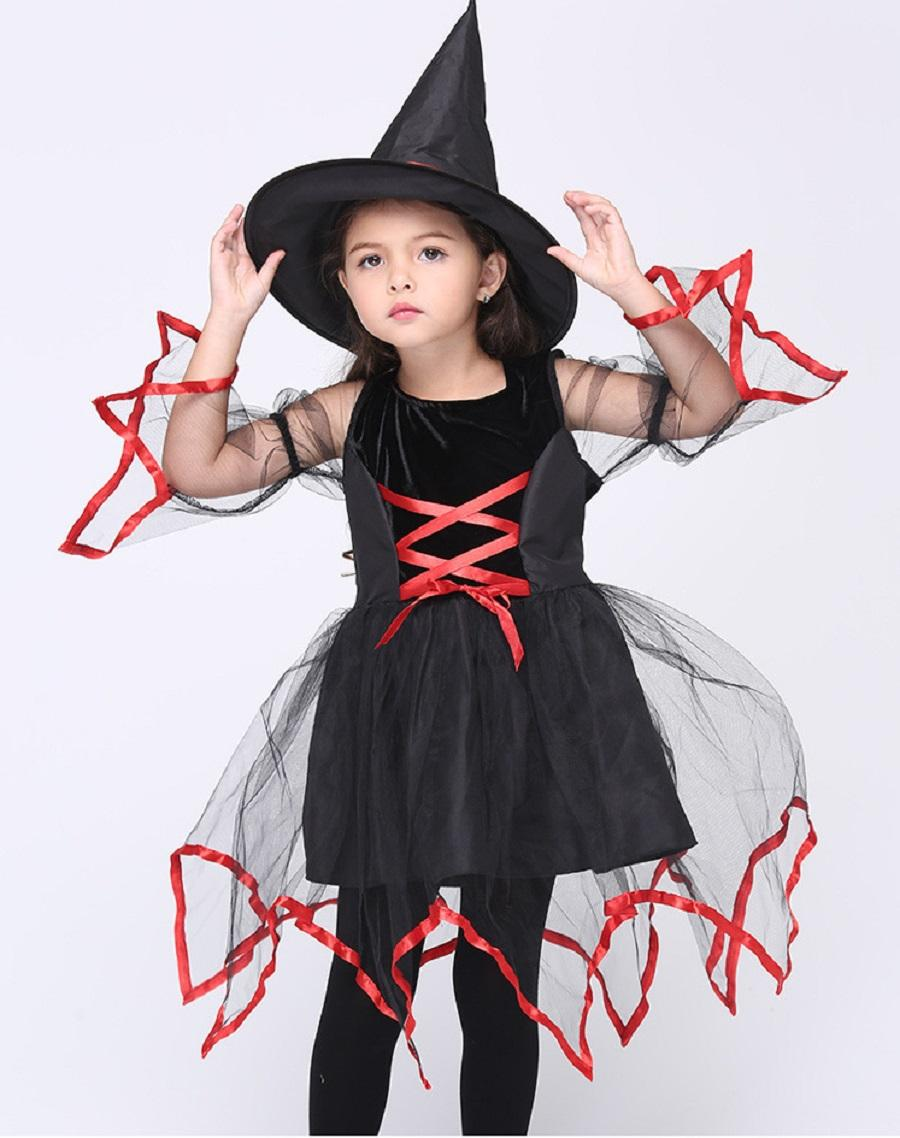 Children In Costumes Cosplay Animation Perform Female Witch ...
