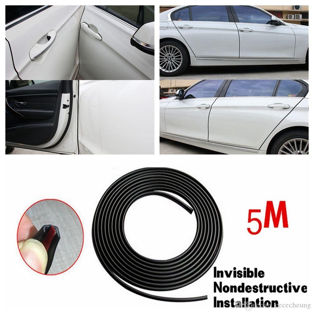 2018 16ft/5m Black Car Door Moulding Trim Scratch Protector Strip Edge  Guard Cover Moulding Trim Strip Car Door Scratch Protector Edge Guard From  Cececheung ...