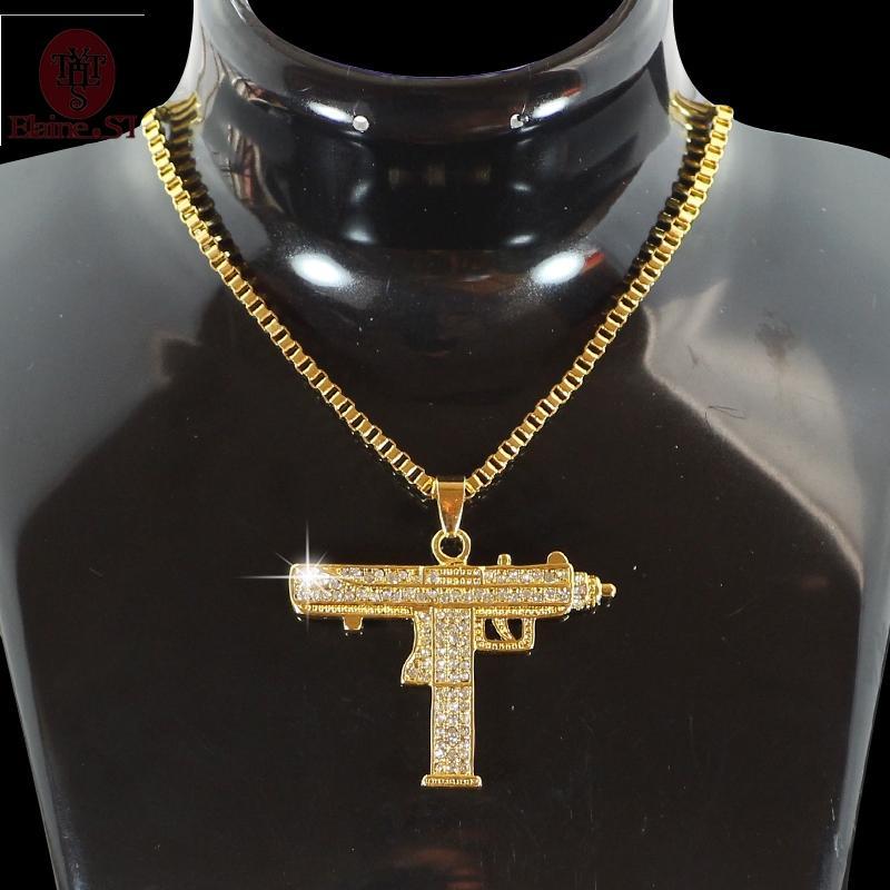 9e912ab1ef65 Compre Hiphop Jewelry Gothic Gold Collar De Cadena Submachine Gun  Gargantilla Collar Cs Go Hip Hop Friendship Mujeres Hombres Joyería A  8.35  Del Netecool ...