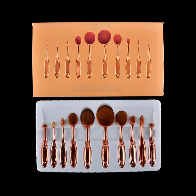 Tooth Brush Shape Makeup Brush Set Multipurpose Cosmetic