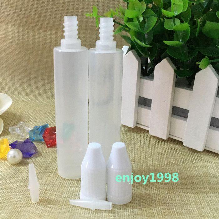 Самые дешевые Empty 30мл PE Pen Pen Форма бутылки E-сиг Пластиковые бутылки с длинными Защита от детей Люки Длинные Советы по E жидкости Vapor EJuice