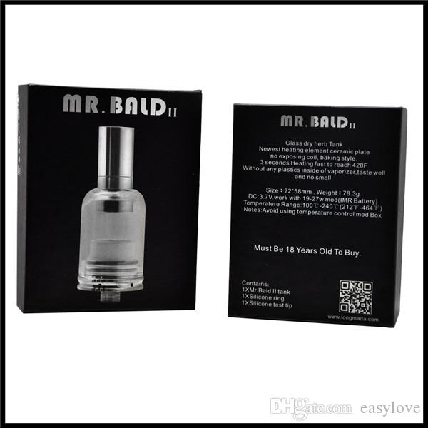 Original Longmada Mr Bald II Dry Herb Vaporizer Ceramic Heating Coil Mr Bald II Tank