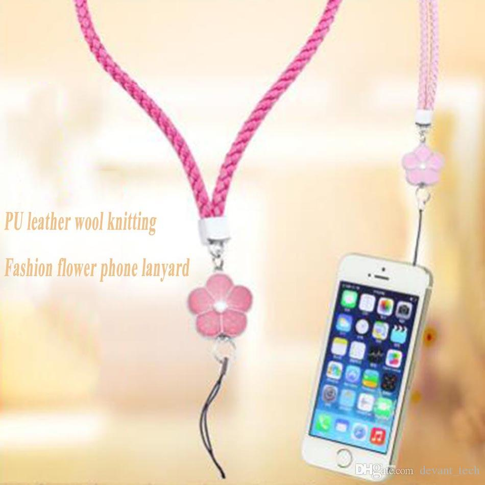 Braided Lanyards Mobile Phone Camera Straps Rope 23CM For ID Badge MP3 MP4 Keychain U Disk Wallet Bag Decoration Woman Gift Card