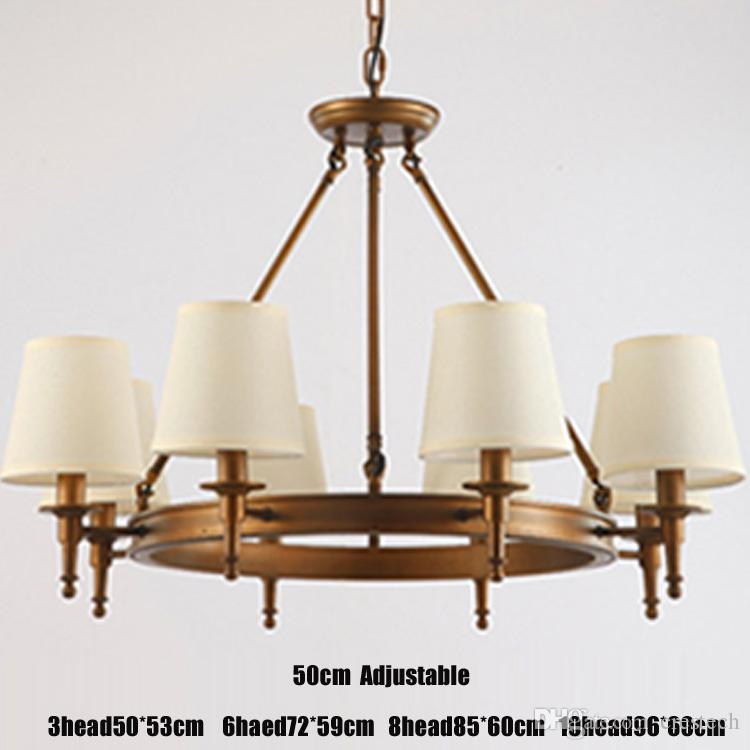 Sarkıt aydınlatma Amerikan Country Oturma Odası ışıkları tavan lambası eski ışıklar Basit Demir Yemek Odası Yatak Odası Çalışma Odası