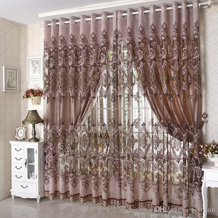 2018 2015 New Arrival Ready Made Luxury Curtain For Living Room ...