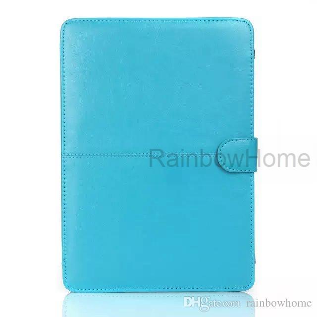 Schlanke pu Ledertasche Schutzhülle für MacBook Air Pro mit Retina 11 12 13 15 Zoll Laptop-Schutz faltbare Fällen