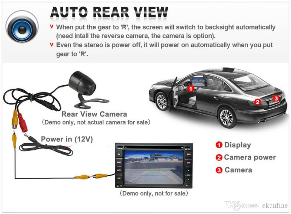 CCD Track Car Rear View Camera BENZ B200 Parking Assistance Camera con Track line Night Vision LED Light impermeabile KF-V1193L