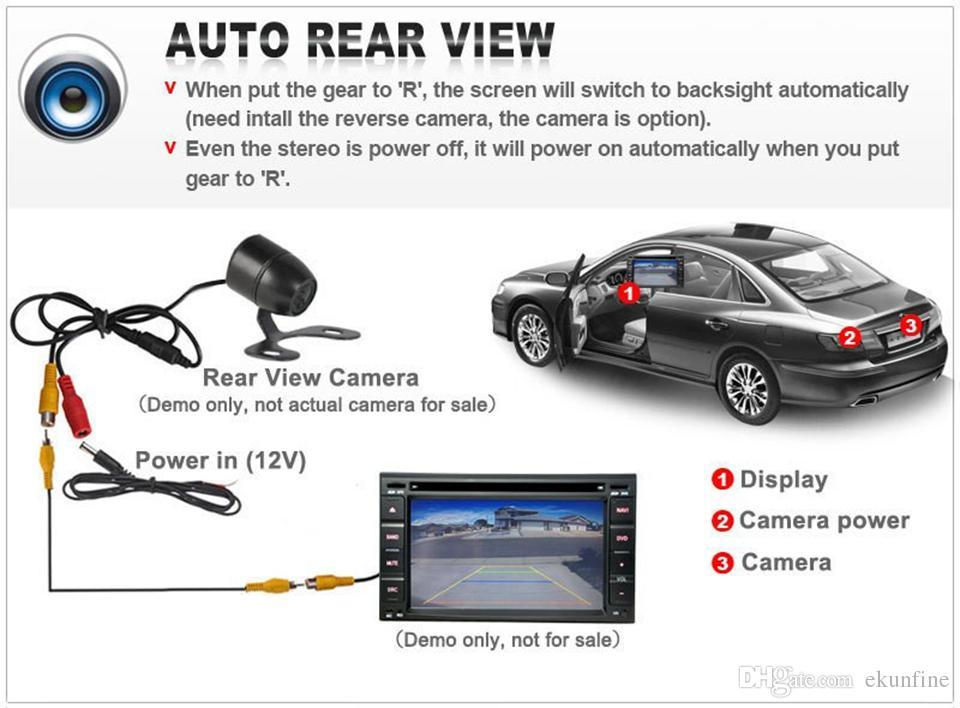 Telecamera retromarcia CCD Track Car Peugeot 4008 2012 Telecamera assistenza al parcheggio con Track line Night Vision LED KF-V1192L impermeabile