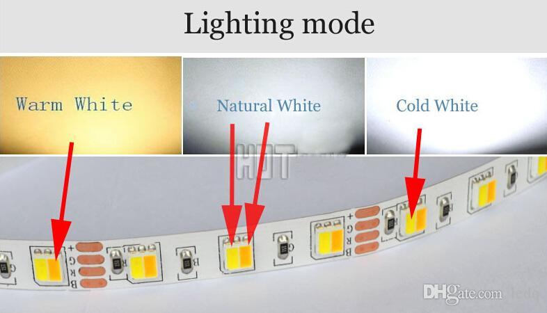 20m 15m 10m 5m 듀얼 컬러 LED 스트립 조명 5050 smd 방수 IP65 릴 조명 + RF 원격 컨트롤러 + 전원 공급 장치 어댑터 키트 CE ROSH
