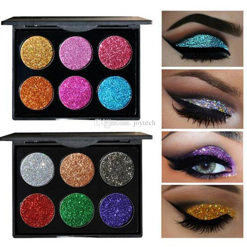 Glitter Injections Pressed Glitters Single Eyeshadow Diamond Rainbow Make Up Cosmetic Eye shadow Magnet Palette