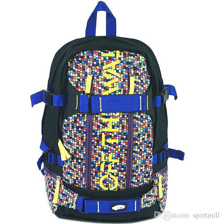 Sliding Plate Backpack Skids Exercise School Bag Skate Board Daypack ... 41d9171ee0