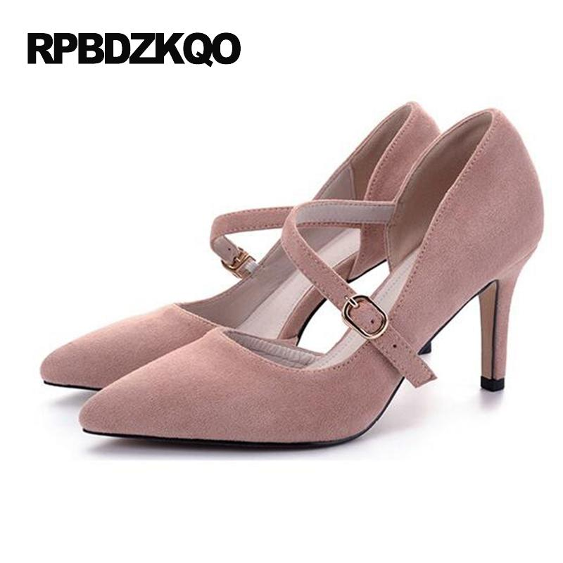 3 Inch Strap Sandals 10 42 Crossdresser Size 33 2017 Pink Shoes ...