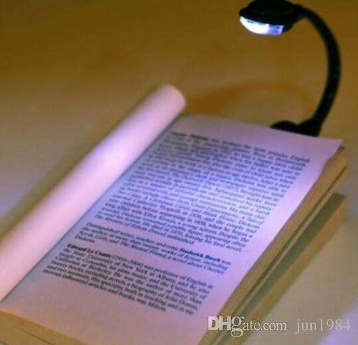 Mini Flexible Clip on Clip-On Bright Book Light Booklight Laptop LED Book Reading New DHL