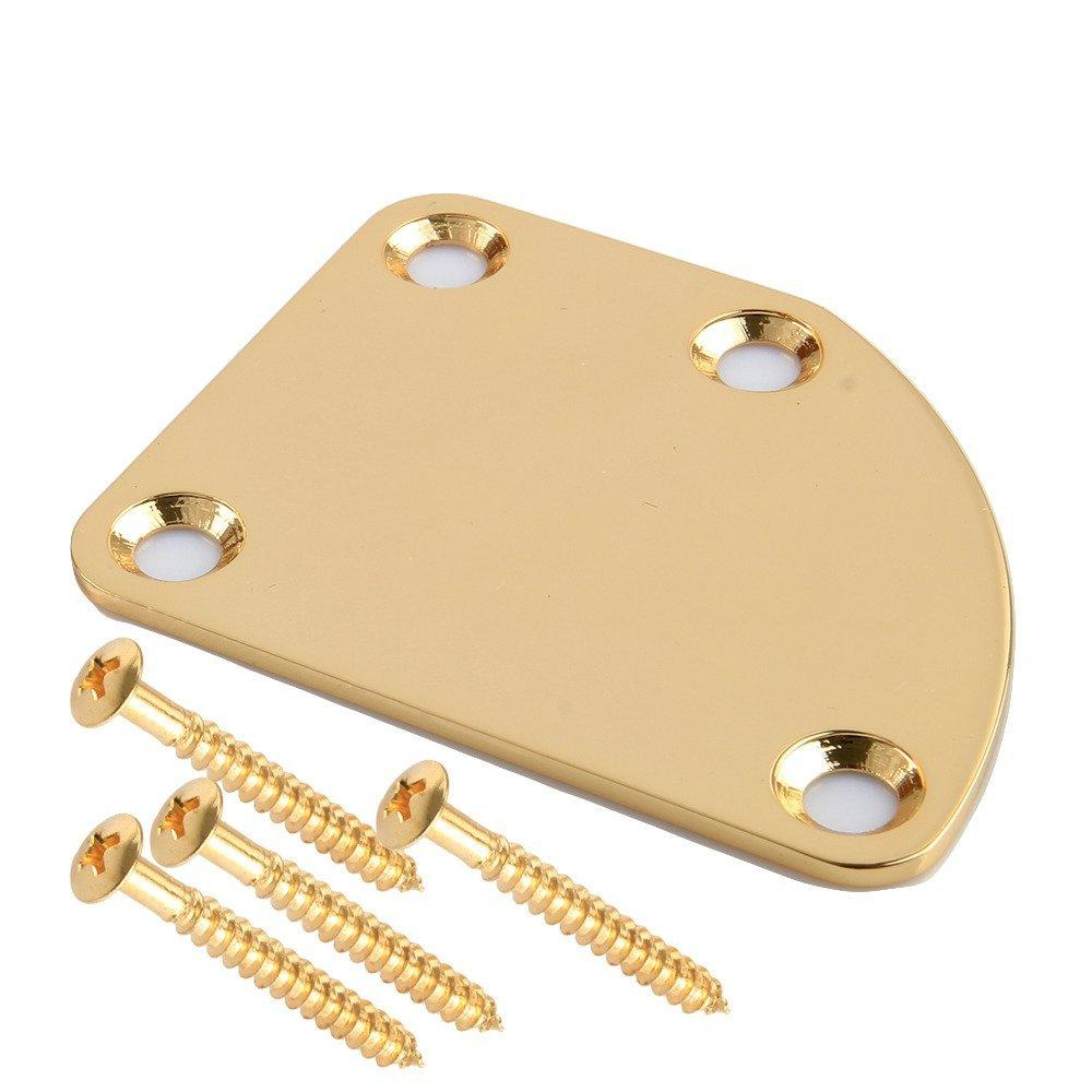 Electric Guitar Neck Joint Mounting Plate w/ Mounting Screws