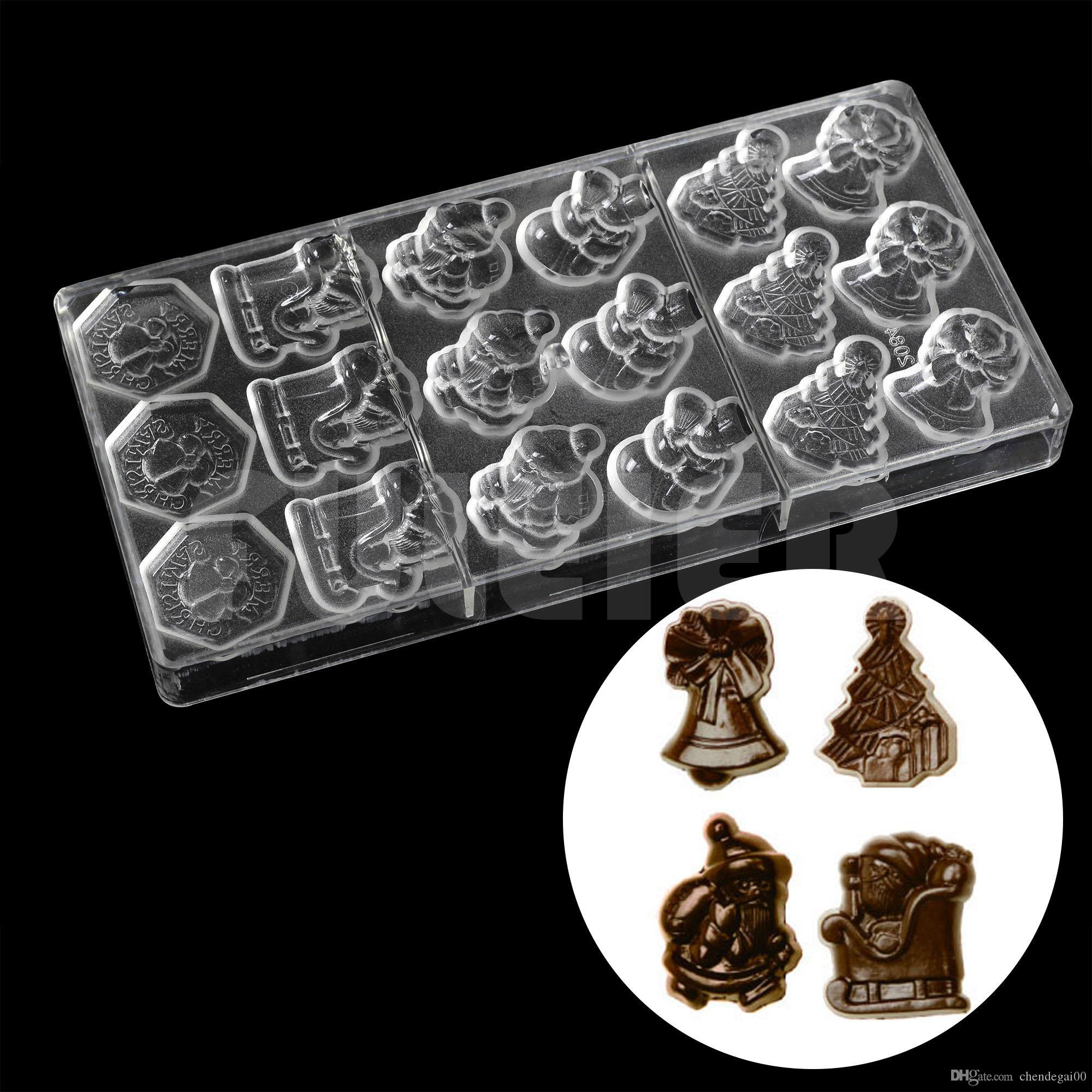 plastic christmas series candy chocolate mold diy cute santa claus chocolate making tools candies and sweets baking pastry mould chocolate mold candy mold