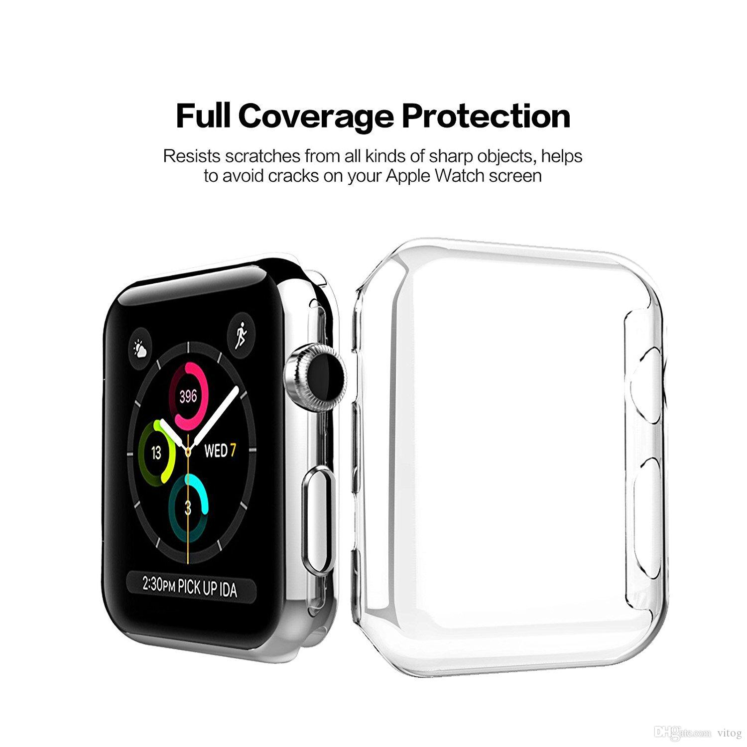 Transparent Frame Case Clear Ultra Thin Hard PC Protective Cover For Apple Watch Series 4 3 2 1 iwatch 38mm 42mm