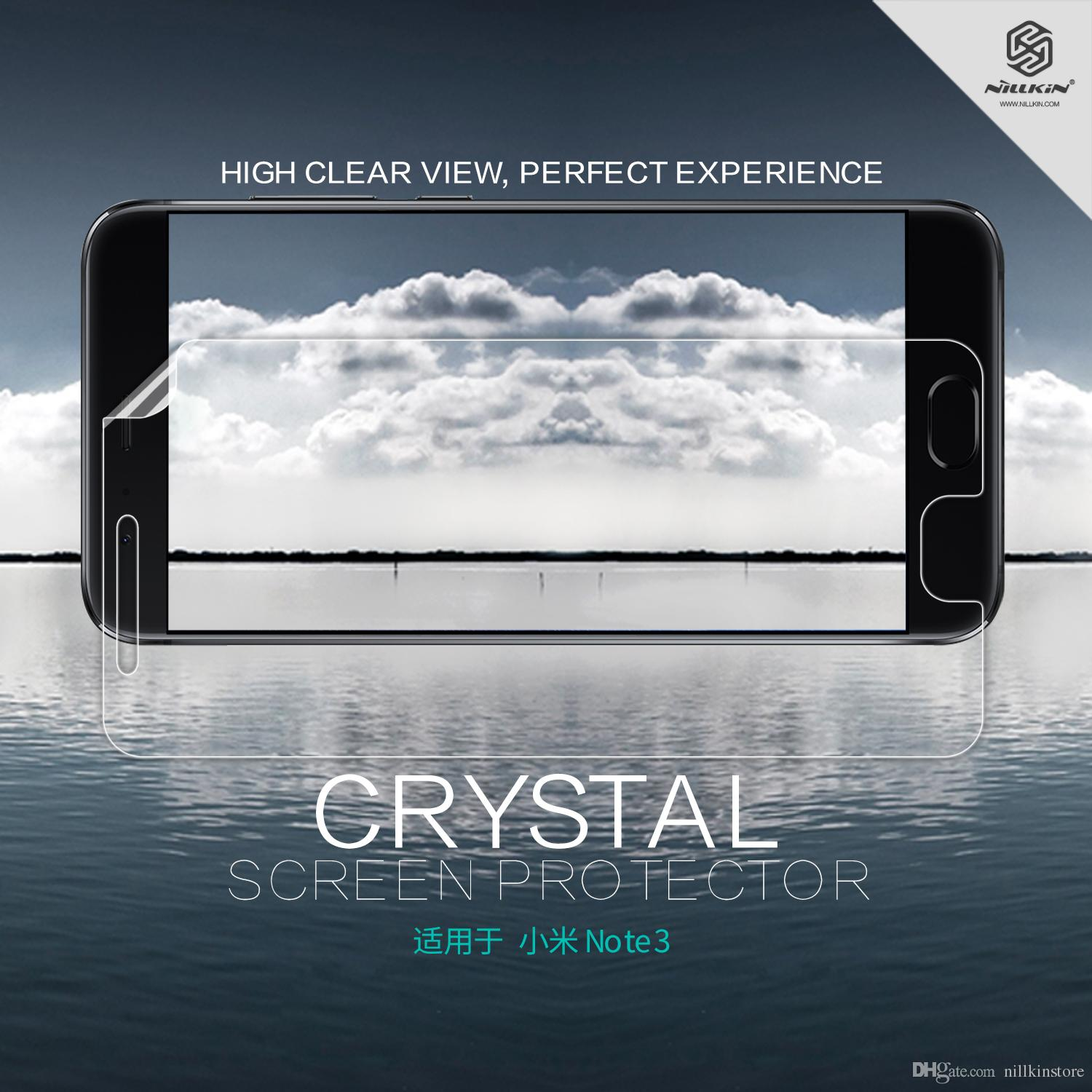 Nillkin Crystal Super Clear Screen Protector Xiaomi Mi Note 3 Anti Fingerprint Protective Xiaomi Mi Note 3 Best Anti Glare Screen Protector Best Cell