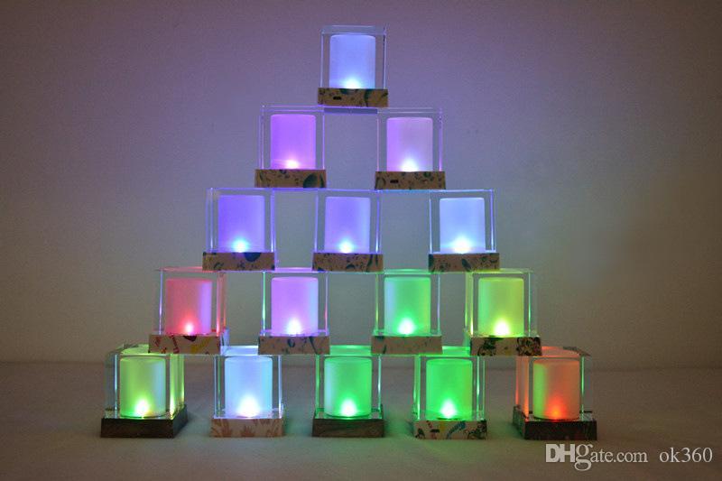 Sun light cube LED Solar Light electronic candle lights Night table light bedside fun lights/ smart home lamp creative Wedding Holiday gift