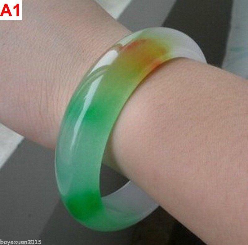 3 couleurs, vente en gros de bracelet de jade de jade multicolore / afrique naturel Diamètre intérieur: 56mm-62mm
