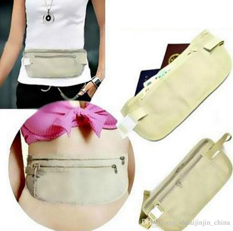 376aba551647 wallets Travel Security Money Ticket Passport Holder waist packs Belt purse  bag Hidden Wallet Passport Travel Bag KKA2042