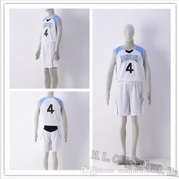 Compre NO.4 Kuroko No Basuke RAKUZAN 4 Akashi Seijuro Baloncesto Jersey  Shorts Cosplay Disfraces Ropa Deportiva Uniforme Envío Gratis A  29.45 Del  ... b20fc2349c1da