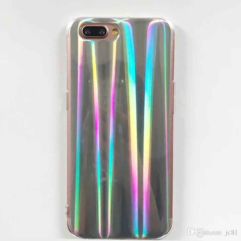 Vintage Soft TPU Back Cover Cool Laser Rainbow Shining Phone Case for Iphone6 6s 7 7Plus Colorful