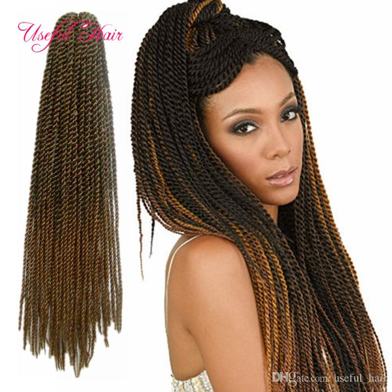 hot sell Senegal braids 18inch senegalese twist pre-loop synthetic braiding hair crochet hair extensions cloud nine brazilian braiding hair
