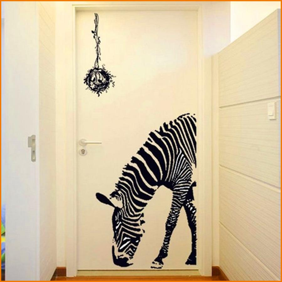 Black zebra diy wall stickers wall poster wall stick abstract art black zebra diy wall stickers wall poster wall stick abstract art decor animal stickers home decoration size 6090cm sticker decor sticker decor for walls amipublicfo Choice Image
