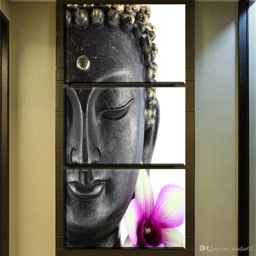 ZZ452 3 panels buddha canvas prints art buddha canvas pictures oil art painting for livingroom bedroom decoration unframed print
