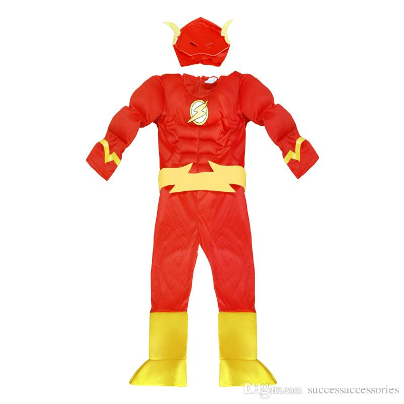 The Flash Muscle Kids Dc Comic Superhero Cosplay Fantasia Halloween Costumes Disfraces For Child Boyu0027S Clothing Themed Costumes Themed Halloween Costumes ...  sc 1 st  DHgate.com & The Flash Muscle Kids Dc Comic Superhero Cosplay Fantasia Halloween ...