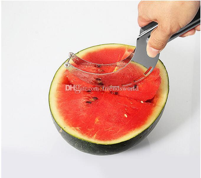 Neue ankunft Heißer Wassermelone Messer Cutter Slicer Corer Server Scoop Küche Werkzeug Obst Messer Splitter Hobel Cutter