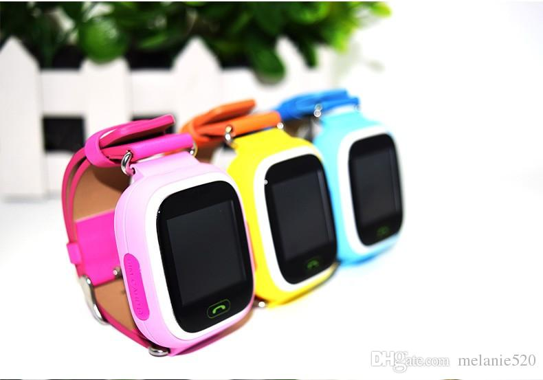 GPS Q90 Smart Watch Horloges tactiles WIFI Lieu Enfants Bébé SOS Finder Appel Track gps Enfant Safe Anti-Perdu Moniteur PK Q730