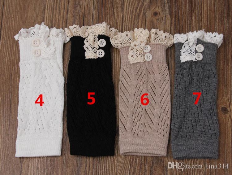 Hot women Crochet lace boot cuffs handmade Knit leg warmer Ballet lace Boot Cuff Leg Warmers Christmas Boot Socks covers BB106