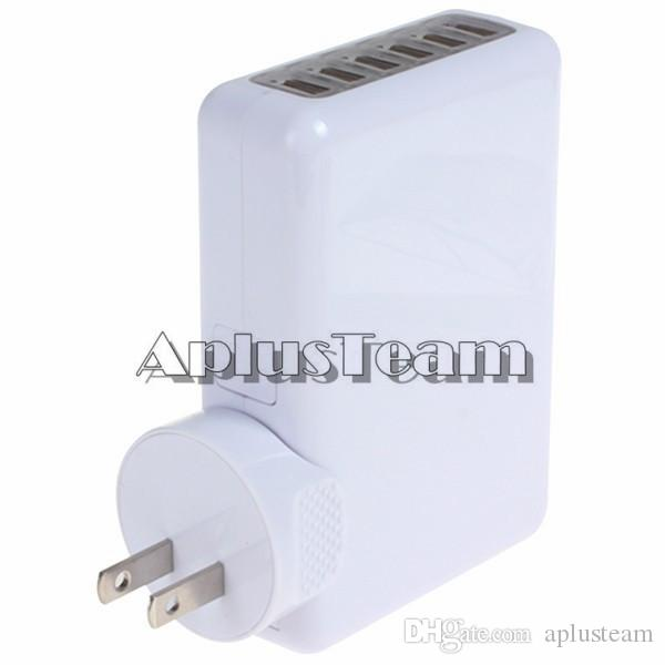 For iPhone 6s Universal 6 Port USB Wall Charger US EU UK AU Plug AC Power Wall Adapter for iphone 5s Samsung S6 ipad HTC Blackberry