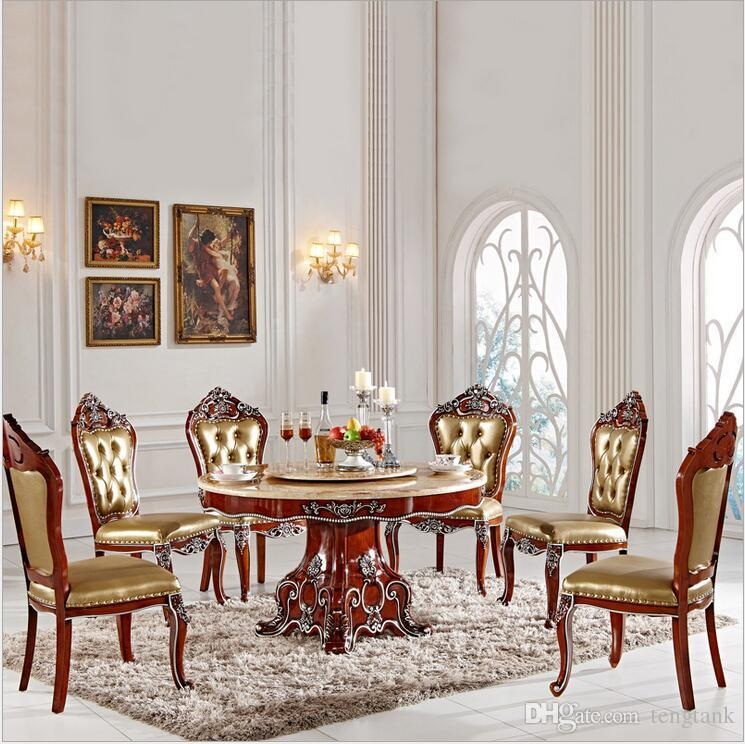 Antique Style Italian Dining Table 100% Solid Wood Italy Style Luxury  Dining Table Set with 6 Chairs Pfy2001 Table Set Dining Table Online with  ... - Antique Style Italian Dining Table 100% Solid Wood Italy Style