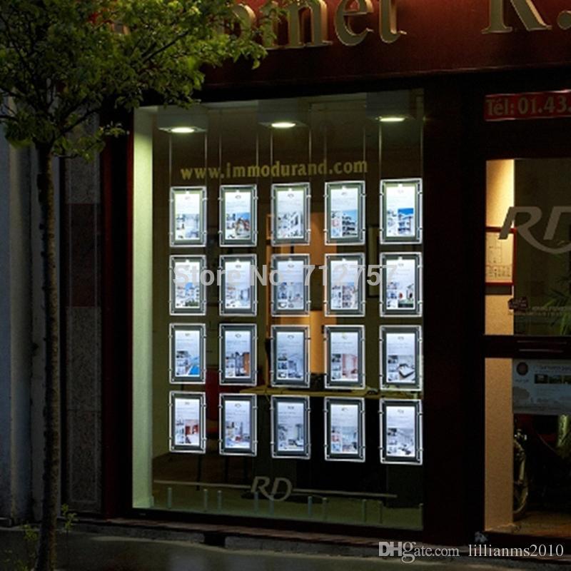 Großhandel Real Estate Agent / Reisebüro Fenster Hängen Acryl Led ...