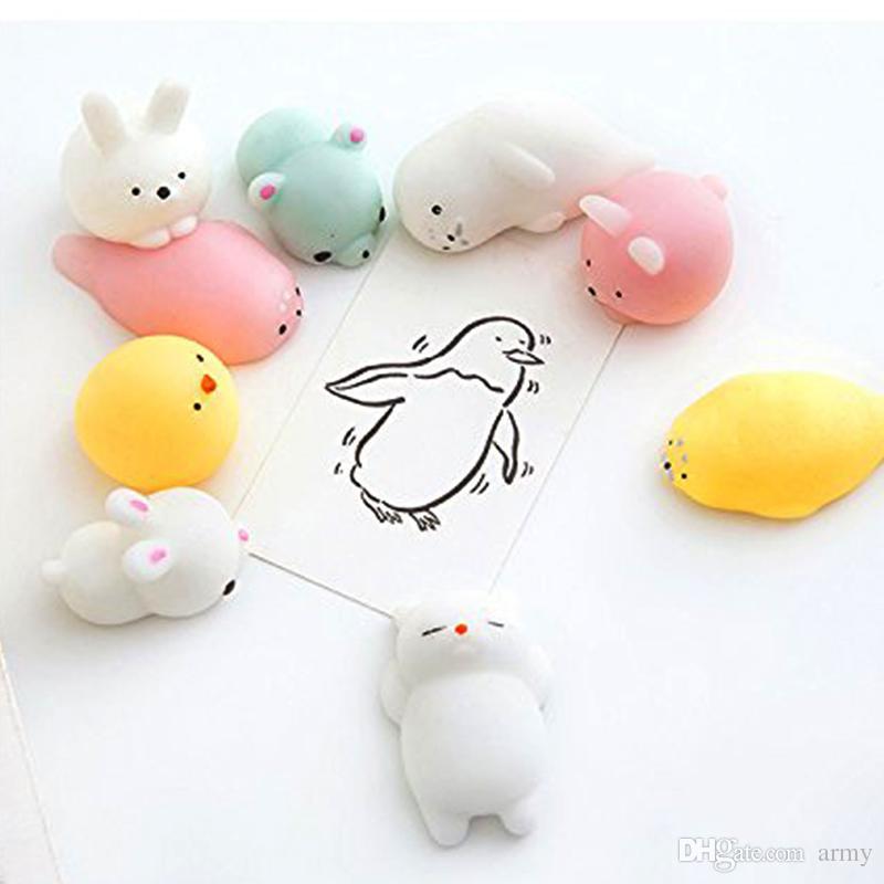 Squishy Langsam steigende Jumbo Spielzeug Brötchen Spielzeug Tiere Nette Kawaii Squeeze Cartoon Spielzeug Mini Squishies Katze Squishiy Mode Rare Tier Geschenke Charms