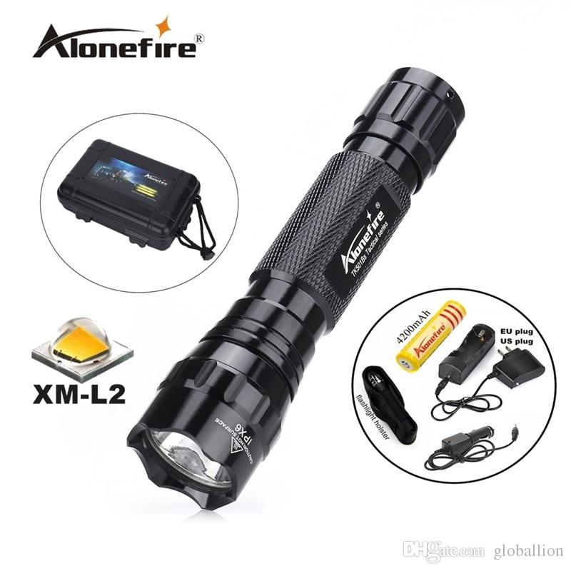 501B 1set Mini Flashlight Cree xml L2 LED Tactical Flashlight flash light waterproof led torch for outdoor adventure camping+18650 battery