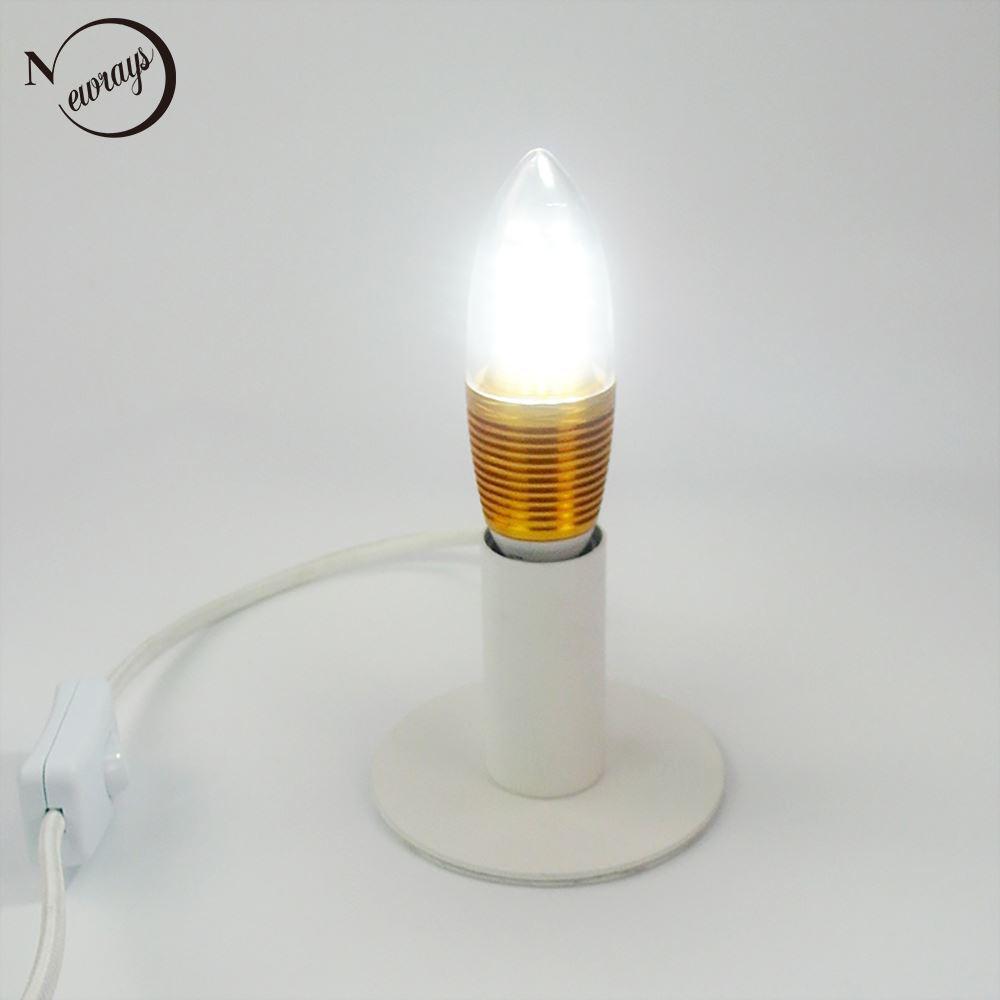 Blanc Lampe Salon Europe Bref Moderne Du Pour Chambre Travail Étude Nord Fer Chevet Salle De Veilleuses E14 Lampes Table pSMzqUV