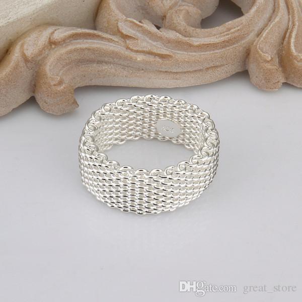 heißen Verkauf Netzwerk Sterling Silber Ring GR040, Frauen 925 Silber Rrings Band Ringe
