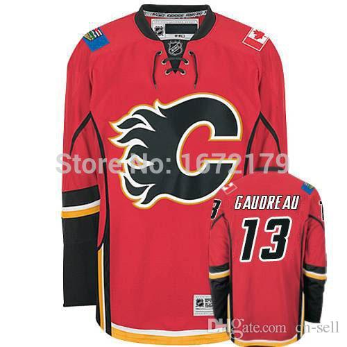 best service 9e9f8 80f19 CHEAP HIGH QUALITY 2015 NEW MENS CALGARY FLAMES #13 JOHNNY GAUDREAU RED  HOME PREMIER 100% STITCHED ICE HOCKEY SPORT JERSEY