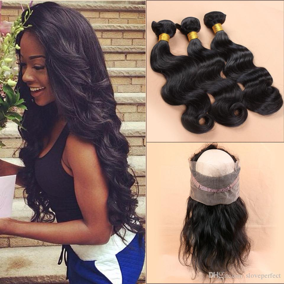 360 Lace Frontal With Bundle 7A Peruvian Body Wave 360 Frontal With Bundles  Top 360 Lace Frontal Closure With Bundles Human Hair UK 2019 From  Sloveperfect 39027cca39fe