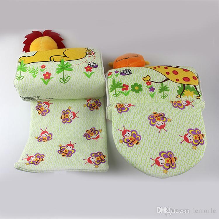 Animais Forma Bebê Travesseiro Anti Rollover Bebê Seguro Anti Roll Pillow Sono Cabeça Posicionador