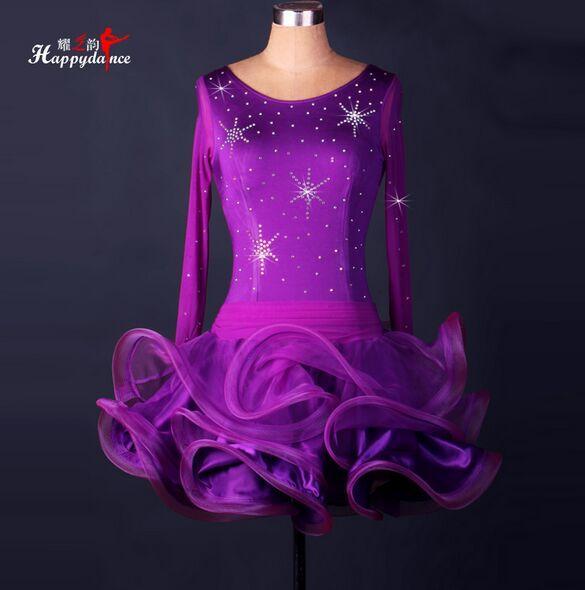 Custom Madel Latin Dance Dress Paillettes Donna Lady Abbigliamento la danza Costumi teatrali Ballroom Tassel Dress Dancing le donne Dancewear