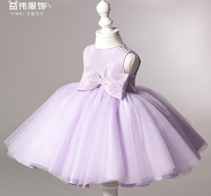 7299538317da Acquista Violet Abiti Di Nozze Bambini Formale Infant Festa Di Battesimo  Comunione Abiti Da Sposa Vestito Da Spettacolo La Bambina 1 11 Anni A   56.29 Dal ...