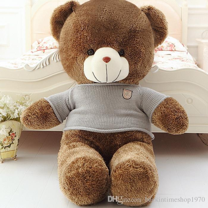New Arrival Teddy Bear Hot Sale 80 Cotton Light Brown Giant 40/60/80cm Cute Plush Teddy Bear Huge Soft TOY