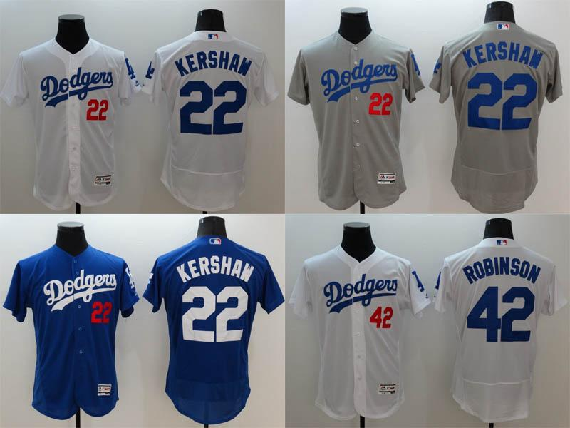 4cc2935e2 2017 2017 los angeles dodgers 22 clayton kershaw white grey blue jerseys  2016 ...