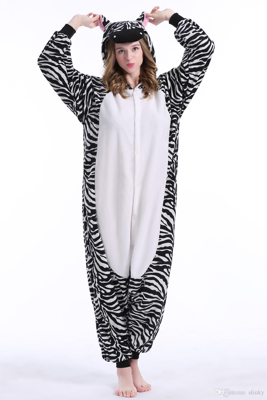 зебра запас теплый Единорог кигуруми пижамы животных костюмы косплей  Хэллоуин костюм для взрослых одежда мультфильм комбинезоны унисекс животных  пижамы 5a9fe5e34d645