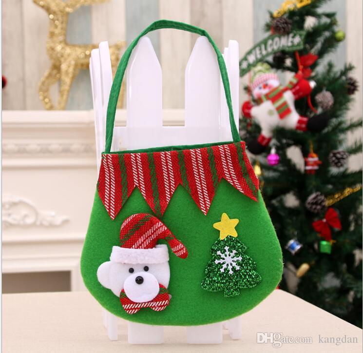 Crianças Doces Elf Sacos De Doces de Natal Saco de Presente de Natal Suprimentos de Festa de casamento Top Selling Decorações de Natal saco de doces de natal papai noel